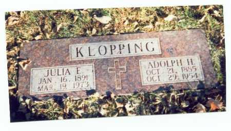 KLOPPING, JULIA E. - Pottawattamie County, Iowa | JULIA E. KLOPPING