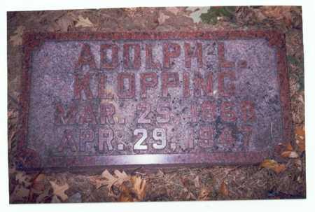 KLOPPING, ADOLPH L. - Pottawattamie County, Iowa   ADOLPH L. KLOPPING