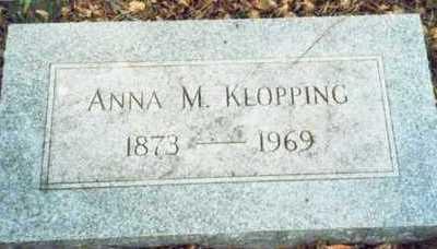 KLOPPING, ANNA M. - Pottawattamie County, Iowa | ANNA M. KLOPPING