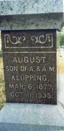 KLOPPING, AUGUST H. JR. - Pottawattamie County, Iowa   AUGUST H. JR. KLOPPING