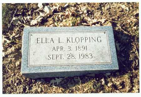 KLOPPING, ELLA L. - Pottawattamie County, Iowa | ELLA L. KLOPPING
