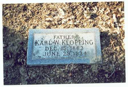 KLOPPING, KARL W. - Pottawattamie County, Iowa | KARL W. KLOPPING