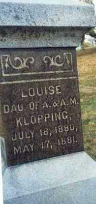 KLOPPING, LOUISE - Pottawattamie County, Iowa | LOUISE KLOPPING