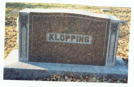 KLOPPING, MARKER - Pottawattamie County, Iowa   MARKER KLOPPING