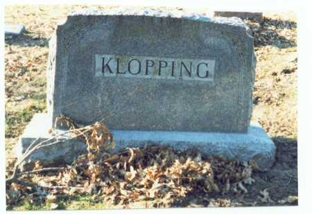 KLOPPING, MARKER - Pottawattamie County, Iowa | MARKER KLOPPING