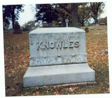 KNOWLES, FAMILY MARKER - Pottawattamie County, Iowa | FAMILY MARKER KNOWLES