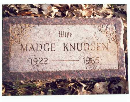 KNUDSEN, MADGE - Pottawattamie County, Iowa   MADGE KNUDSEN