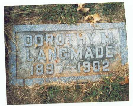 LANGMADE, DOROTHY M. - Pottawattamie County, Iowa   DOROTHY M. LANGMADE