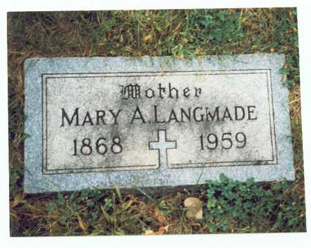 LANGMADE, MARY A. - Pottawattamie County, Iowa | MARY A. LANGMADE