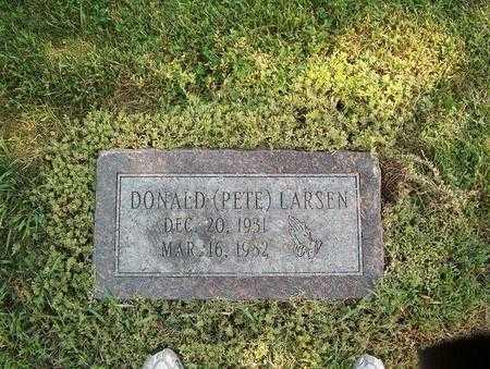 LARSEN, DONALD (PETE) - Pottawattamie County, Iowa | DONALD (PETE) LARSEN