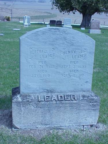 LEADER, BERTHA  J. & HENRY - Pottawattamie County, Iowa | BERTHA  J. & HENRY LEADER