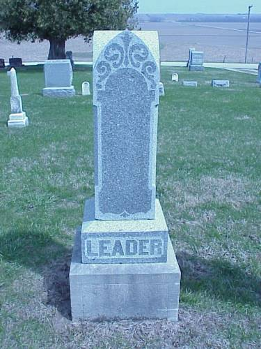 LEADER, HEADSTONE - Pottawattamie County, Iowa | HEADSTONE LEADER
