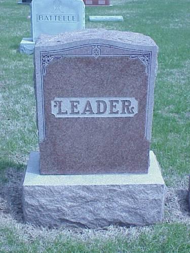 LEADER, HEADSTONE 2 - Pottawattamie County, Iowa   HEADSTONE 2 LEADER