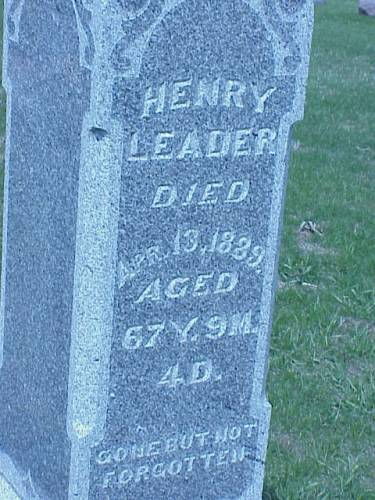 LEADER, HENRY - Pottawattamie County, Iowa | HENRY LEADER