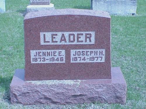 LEADER, JENNIE E. & JOSEPH H. - Pottawattamie County, Iowa | JENNIE E. & JOSEPH H. LEADER
