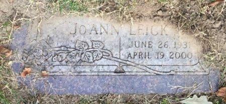 LEICK, JOANN - Pottawattamie County, Iowa   JOANN LEICK