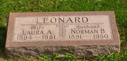 LEONARD, NORMAN B - Pottawattamie County, Iowa | NORMAN B LEONARD
