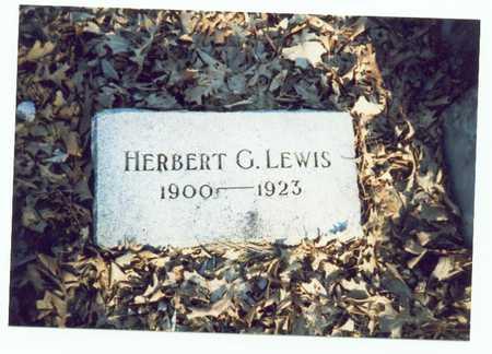 LEWIS, HERBERT G. - Pottawattamie County, Iowa | HERBERT G. LEWIS