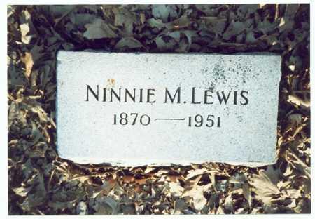 LEWIS, NINNIE M. - Pottawattamie County, Iowa | NINNIE M. LEWIS