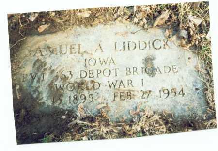 LIDDICK, SAMUEL A. - Pottawattamie County, Iowa | SAMUEL A. LIDDICK