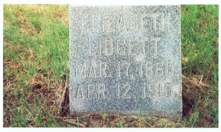 LIDGETT, ELIZABETH - Pottawattamie County, Iowa | ELIZABETH LIDGETT