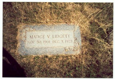 LIDGETT, MADGE VIOLA - Pottawattamie County, Iowa | MADGE VIOLA LIDGETT