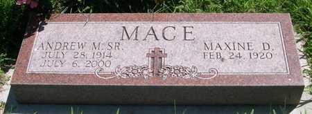 MACE, MAXINE D. - Pottawattamie County, Iowa   MAXINE D. MACE