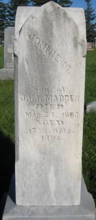 MADDEN, JOHNNIE M - Pottawattamie County, Iowa | JOHNNIE M MADDEN