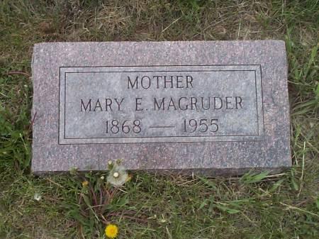 MAGRUDER, MARY E. - Pottawattamie County, Iowa   MARY E. MAGRUDER
