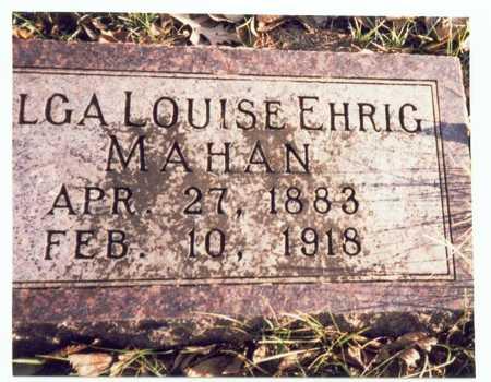 EHRIG MAHAN, OLGA LOUISE - Pottawattamie County, Iowa | OLGA LOUISE EHRIG MAHAN