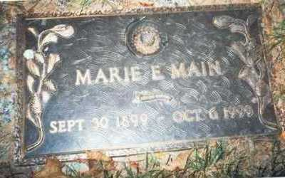 MAIN, MARIE E. - Pottawattamie County, Iowa | MARIE E. MAIN