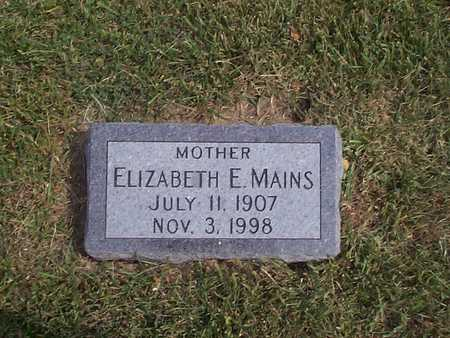 MAINS, ELIZABETH E. - Pottawattamie County, Iowa   ELIZABETH E. MAINS