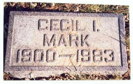 MARK, CECIL I. - Pottawattamie County, Iowa | CECIL I. MARK