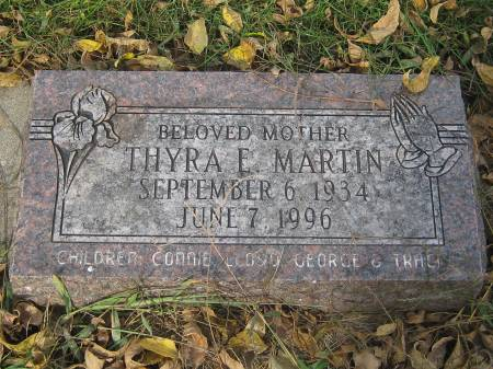 MARTIN, THYRA E. - Pottawattamie County, Iowa   THYRA E. MARTIN