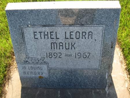 MAUK, ETHEL LEORA - Pottawattamie County, Iowa | ETHEL LEORA MAUK