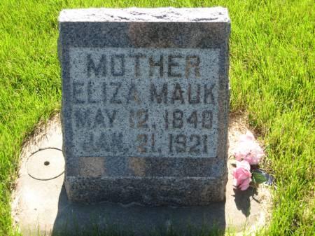 MAUK, ELIZA - Pottawattamie County, Iowa | ELIZA MAUK