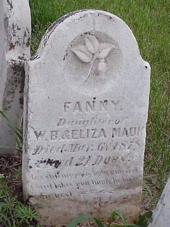 MAUK, FANNY - Pottawattamie County, Iowa | FANNY MAUK