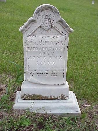 MAUK, WILLIAM B. - Pottawattamie County, Iowa | WILLIAM B. MAUK