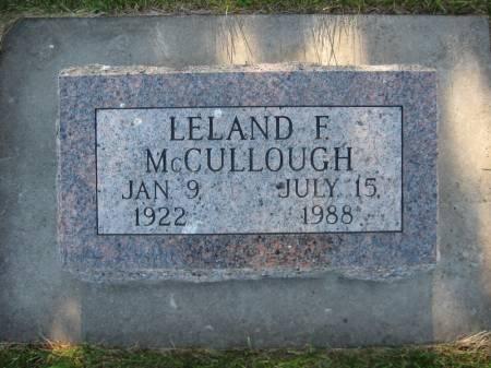 MCCULLOUGH, LELAND F. - Pottawattamie County, Iowa   LELAND F. MCCULLOUGH