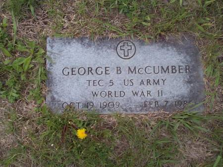 MCCUMBER, GEORGE B. - Pottawattamie County, Iowa | GEORGE B. MCCUMBER