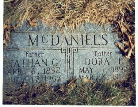 MCDANIELS, DORA L. - Pottawattamie County, Iowa   DORA L. MCDANIELS