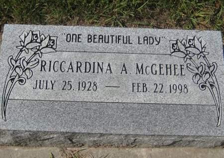 MCGEHEE, RICCARDINA A. - Pottawattamie County, Iowa | RICCARDINA A. MCGEHEE