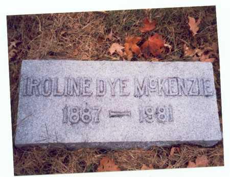 DYE MCKENZIE, IROLINE - Pottawattamie County, Iowa | IROLINE DYE MCKENZIE