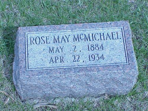MCMICHAEL, ROSE MAY - Pottawattamie County, Iowa | ROSE MAY MCMICHAEL