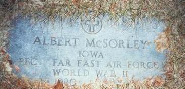 MCSORLEY, ALBERT - Pottawattamie County, Iowa   ALBERT MCSORLEY