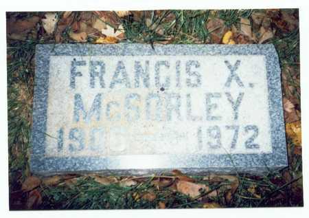 MCSORLEY, FRANCIS XAVIER - Pottawattamie County, Iowa | FRANCIS XAVIER MCSORLEY