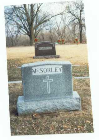 MCSORLEY, MARKER - Pottawattamie County, Iowa   MARKER MCSORLEY