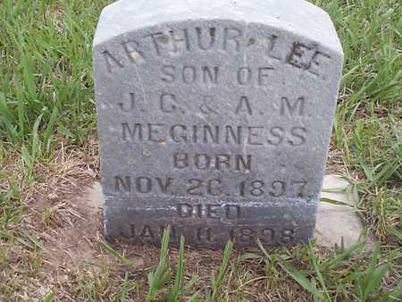 MEGINNES, ARTHUR LEE - Pottawattamie County, Iowa   ARTHUR LEE MEGINNES