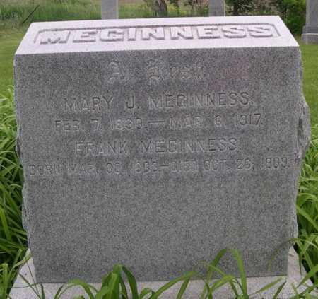 MEGINNESS, MARY J. - Pottawattamie County, Iowa | MARY J. MEGINNESS