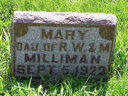 MILLIMAN, MARY - Pottawattamie County, Iowa | MARY MILLIMAN